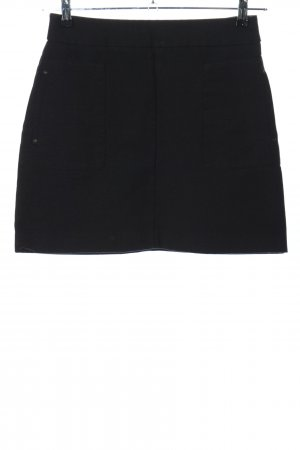 H&M High Waist Rock schwarz Casual-Look