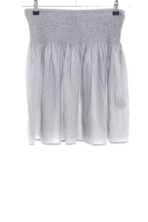H&M Rok met hoge taille lichtgrijs gestreept patroon casual uitstraling