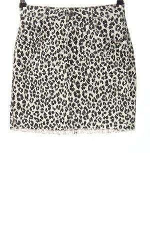 H&M High Waist Rock schwarz-weiß Allover-Druck Casual-Look