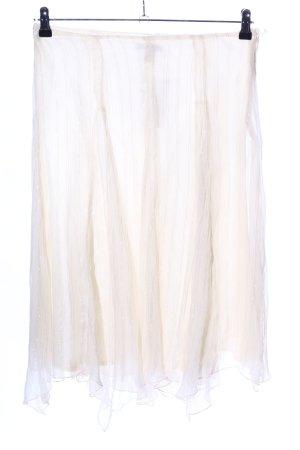 H&M Gonna a vita alta bianco sporco motivo a righe stile casual