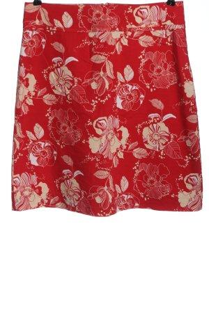 H&M High Waist Rock rot-weiß Allover-Druck Casual-Look