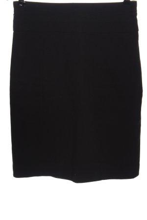 H&M Spódnica z wysokim stanem czarny W stylu biznesowym