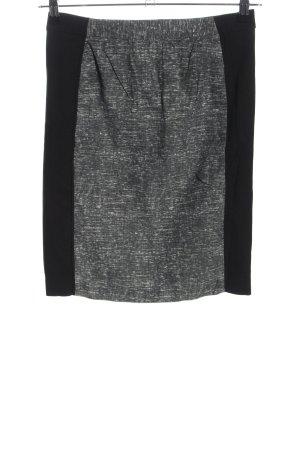 H&M High Waist Rock hellgrau-schwarz meliert Casual-Look