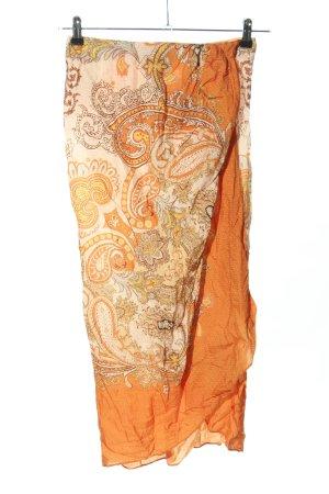 H&M Gonna a vita alta arancione chiaro-bianco sporco motivo astratto elegante