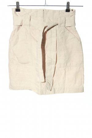 H&M High Waist Rock nude Casual-Look