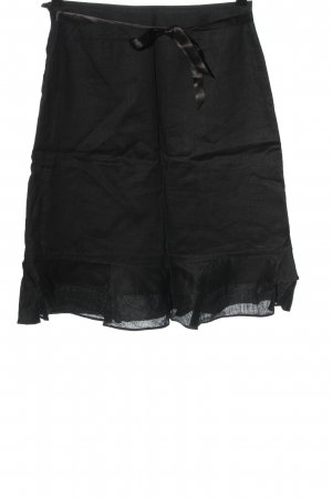 H&M High Waist Rock khaki-schwarz meliert Casual-Look
