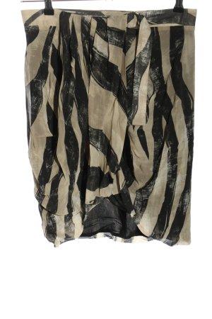 H&M Falda de talle alto gris claro-negro look casual