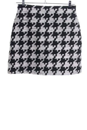 H&M Jupe taille haute gris clair-noir imprimé allover style d'affaires