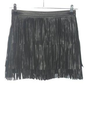 H&M Rok van imitatieleder zwart casual uitstraling