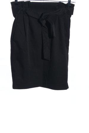 H&M High Waist Rock schwarz Business-Look