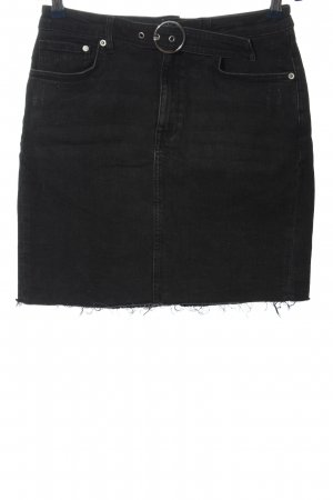 H&M High Waist Skirt black-silver-colored casual look