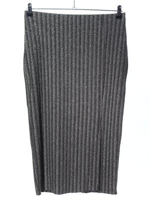 H&M High Waist Rock silberfarben meliert Casual-Look