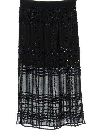 H&M High Waist Rock schwarz Elegant