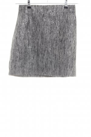 H&M High Waist Rock hellgrau meliert Casual-Look