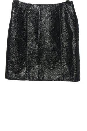 H&M Falda de talle alto negro look casual