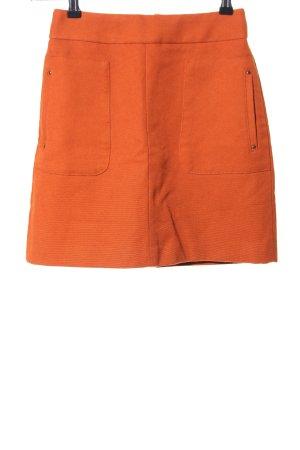 H&M Falda de talle alto naranja claro look casual