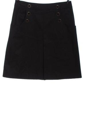 H&M Spódnica z wysokim stanem czarny W stylu casual
