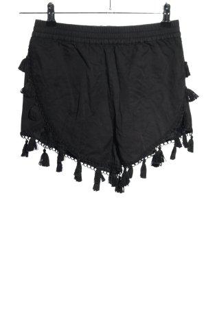 H&M High-Waist-Shorts hellgrau Casual-Look