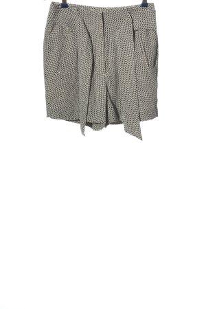 H&M High-Waist-Shorts schwarz-weiß Allover-Druck Casual-Look