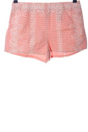 H&M High waist short roze-wit volledige print casual uitstraling