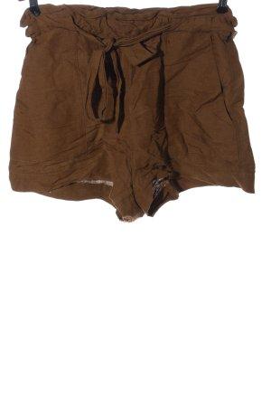 H&M High-Waist-Shorts braun Casual-Look