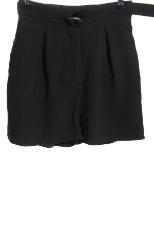 H&M Pantaloncino a vita alta nero stile professionale