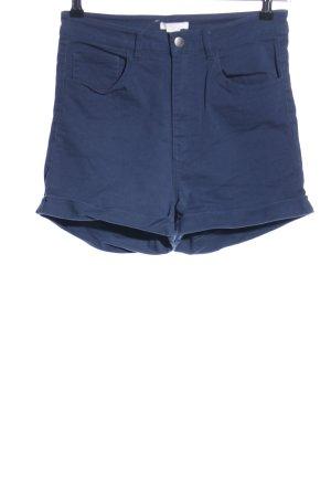 H&M High-Waist-Shorts blau Casual-Look