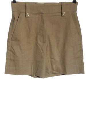 H&M Pantaloncino a vita alta marrone puntinato stile casual