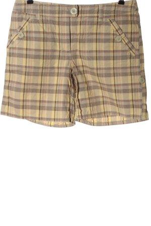 H&M High-Waist-Shorts blassgelb-hellgrau Allover-Druck Casual-Look
