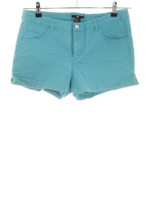 H&M High-Waist-Shorts türkis Casual-Look