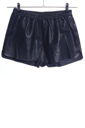 H&M Pantaloncino a vita alta blu effetto bagnato