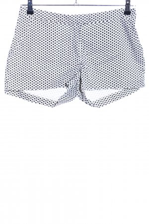 H&M High-Waist-Shorts weiß-schwarz Allover-Druck Casual-Look