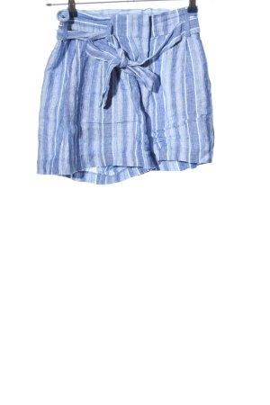 H&M High-Waist-Shorts blau-weiß Streifenmuster Casual-Look