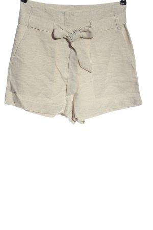 H&M Szorty z wysokim stanem w kolorze białej wełny Melanżowy W stylu casual