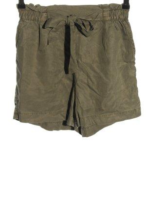 H&M Pantalón corto de talle alto caqui estampado a rayas look casual