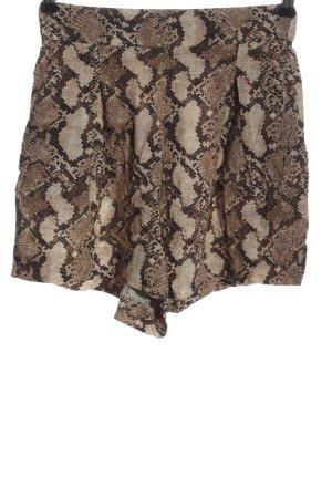 H&M High-Waist-Shorts braun Allover-Druck Casual-Look