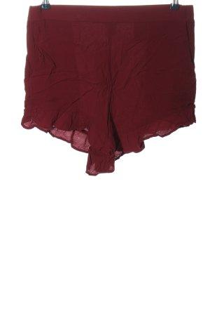 H&M High-Waist-Shorts rot Casual-Look
