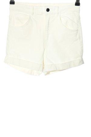 H&M Pantaloncino a vita alta bianco stile casual