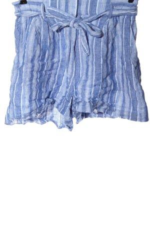 H&M High-Waist-Shorts blau Streifenmuster Casual-Look