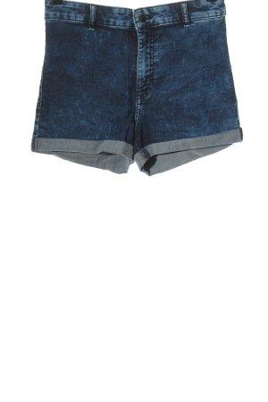 H&M Pantaloncino a vita alta blu stile casual