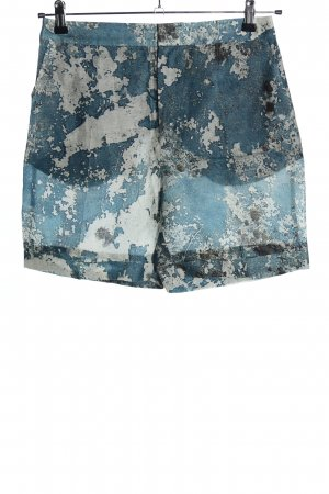 H&M High-Waist-Shorts blau-weiß abstraktes Muster Casual-Look