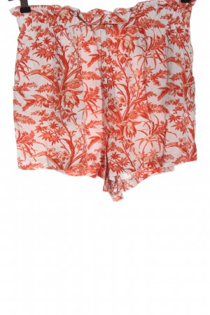 H&M High-Waist-Shorts weiß-rot Allover-Druck Casual-Look