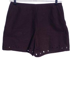 H&M High-Waist-Shorts lila Casual-Look