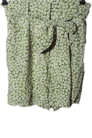 H&M High-Waist-Shorts grün-weiß Allover-Druck Casual-Look