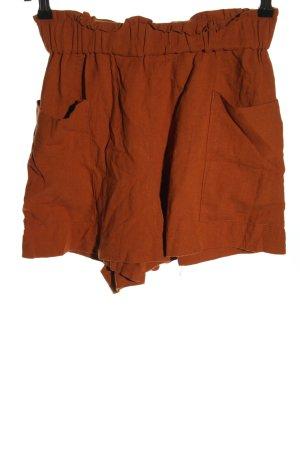 H&M Szorty z wysokim stanem brązowy W stylu casual