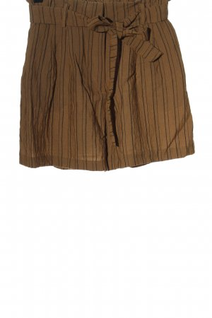 H&M High-Waist-Shorts braun Streifenmuster Casual-Look
