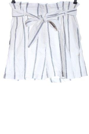 H&M High-Waist-Shorts weiß Streifenmuster Casual-Look