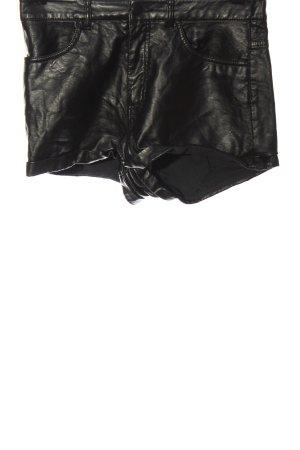 H&M Szorty z wysokim stanem czarny W stylu casual