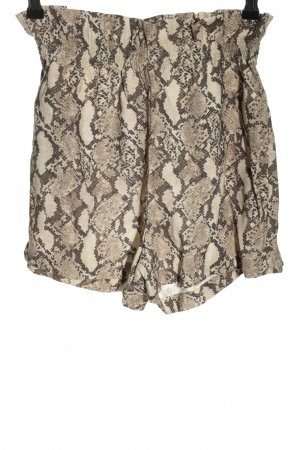 H&M High-Waist-Shorts cream-brown allover print casual look