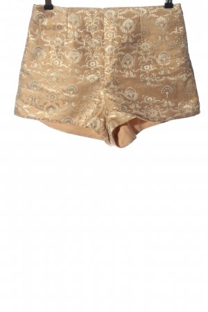 H&M High-Waist-Shorts goldfarben abstraktes Muster Elegant